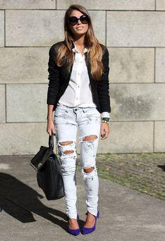 Mango  Blazers, Zara  Shirt / Blouses and Bershka  Jeans