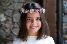 Corona de flores de papel para niñas