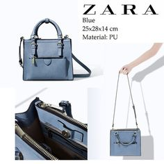 Zara mini city bag Worn a few times. Has endless pockets, cute for spring. I also have one in red! Zara Bags Mini Bags