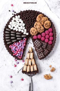 Sweets Cake, Candy Tarte, Torte oder Kuchen mit Suessigkeiten belegt