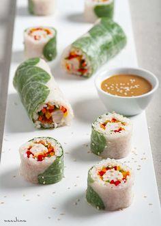 Veggie Sushi, Sushi Co, Sushi Burrito, Spring Rolls, Burritos, Fresh Rolls, Superfood, Good Food, Fun Food