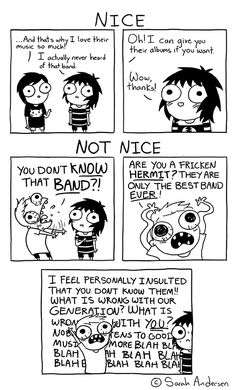 """Check out the comic """"Sarah's Scribbles :: You Don't Know That Band?"""" http://tapastic.com/episode/160990"""