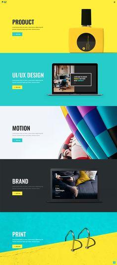 Very striking and simple Flat Web Design, Web Design Trends, Design Websites, Web Design Grid, Minimal Web Design, Ui Ux Design, Web Design Mobile, Site Web Design, Design Brochure