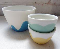 maker:  Ingrid Tufts product:daisy range material:slip cast porcelain handmade in Melbourne