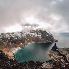 Photo of the Day! @stevejenness enjoys the best seat in the house, overlooking the #LofotenIslands in #Norway #GoPro