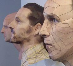 3-d sculpted paper heads