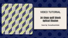 Video tutorial: optical illusion - 3D steps block