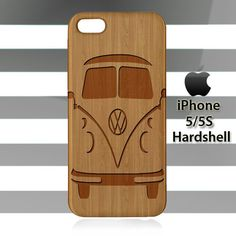 Volkswagen Bus on Wood iPhone 5 5s Case Cover Hardshell