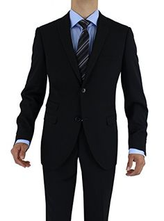 Nicoletti Men's Two Button 2 Piece Slim Fit Ticket Pocket Suit  http://www.allmenstyle.com/nicoletti-mens-two-button-2-piece-slim-fit-ticket-pocket-suit/