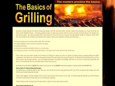 ① The Basics Of Grilling - http://www.vnulab.be/lab-review/%e2%91%a0-the-basics-of-grilling