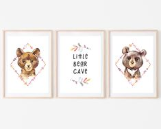 Woodland Nursery Decor Boy, Little Bear Cave Sign for Playroom or Baby Bedroom, Baby Animals Printable Art by HolaSunshineDesigns on Etsy Woodland Nursery Boy, Bear Nursery, Nursery Decor Boy, Colorful Playroom, Mountain Nursery, Floral Printables, Baby Bedroom, Preschool Art, Party Signs