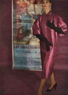 Barbara Mullen, Harper's Bazaar, February 1952  photo by Karen Radkai