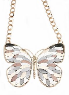 feathered butterfly necklace set  $18.40