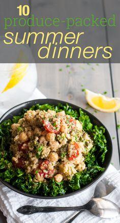 10 tasty, healthy summer dinner recipe ideas (all with gf/meatless option! Healthy Summer Dinner Recipes, Quinoa Tabbouleh, Healthy Recipe Videos, Original Recipe, Vinaigrette, Salad Recipes, Meals, Dinners, Lunch