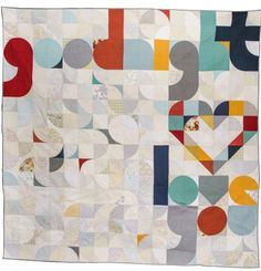 Quilt for Our Bed by Laura Hartrich. People's Choice winner at Quiltcon 2015