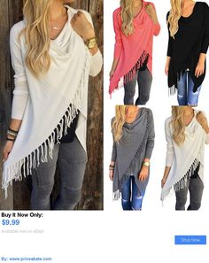 Women Tops Blouses: Fashion Womens Loose Casual Long Sleeve T-Shirt Cotton Blouse Tops T-Shirt BUY IT NOW ONLY: $9.99 #priceabateWomenTopsBlouses OR #priceabate