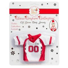Elf on the Shelf Game Day Jersey : Biscuit Home I've seen this one in the stores and card stores. Read the directions and its very cute for Christmas time.
