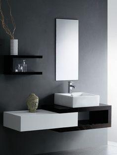 black and white bathroom renovation - Google Search