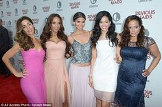 Bevy of beauties: The cast of Devious Maids dazzled in a group shot