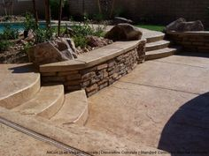 stained concrete block walls | Concrete Stain Concrete Our Vertical Stamping System Spray Decking ...