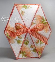Today's tutorial over on Splitcoast is an elegant card called a Double Diamond Fold Card . I hope you'll come over and take a peek at Joann'...