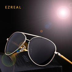 c2e7fe7fbcd8e Alloy Polarized men s gold frame Ultralight sunglasses Uv Sunglasses