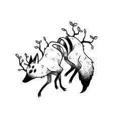 Design & Art inspiration artwork by Faunwood - illustrations Creepy Drawings, Creepy Art, Animal Drawings, Cute Drawings, Creepy Sketches, Drawing Faces, Dessin Old School, Inspirational Artwork, Aesthetic Art