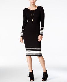 Bar III Striped Sweater Dress, Only at Macy's - Dresses - Women - Macy's