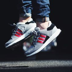 #Adidas EQT Support 93/16 Mgh Solid Grey / Collegiate Red / Grey Credit : The Good Will Out