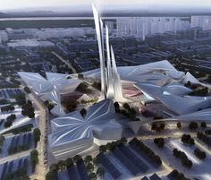 shortlisted for world expo 2017 astana, kasakhstan - zaha hadid's plan is characteristically sinuous