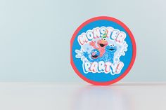 Sesame Street Monster party card. Make It Now with the Cricut Explore machine in Cricut Design Space.