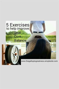5 Exercises to help Improve your seat/core/balance -  As Equestrians we are very diligent in making sure our horses have proper nutrition and exercise. But what about the other half of the team? That's right what about you? You are your horses partner. It's important that as half the team you make...