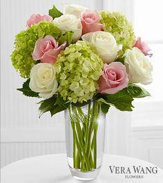 Elegant and Stylish- roses and hydrangea