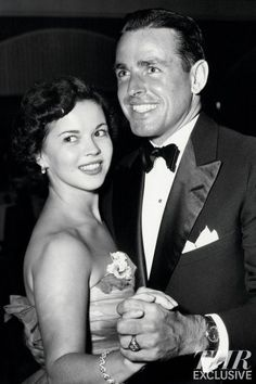 22-year-old Shirley Temple dancing with her future husband, 31-year-old Charles Black