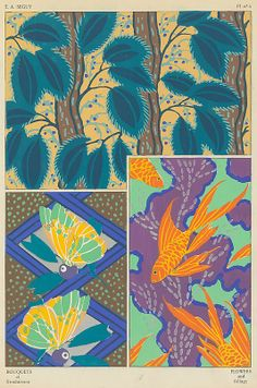 Designed by Emile-Allain Séguy (French, 1877–1951). Bouquets et Frondaisons: 60 Motifs en Couleur, ca.1925. The Metropolitan Museum of Art, New York. Rogers Fund, 1927, transferred from the Library (1991.1073.42) #spring