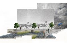 Expressing the Unseen - Architecture Victorious Landscape Architecture Design, Architecture Graphics, Architecture Drawings, School Architecture, Library Architecture, Architecture Models, Photomontage, Layout Design, Gardening Courses