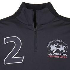 Half-zip sweater, black - Maserati by La Martina - Collection