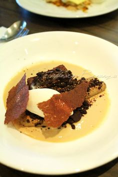 """Chicory Chocolate"""" (vanilla ice cream, milk jam, chocolate crumble)"""