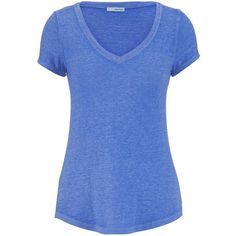maurices V-Neck Burnwash Tee ($15) ❤ liked on Polyvore featuring tops, t-shirts, shirts, tees, spring rain, blue v neck shirt, blue shirt, blue v neck t shirt, t shirts and neon shirts