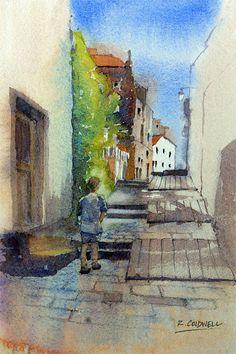 Spanish backstreet by RobertColdwellArt on Etsy