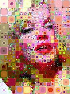 Marilyn Monroe pop art but this can be done with anyone.