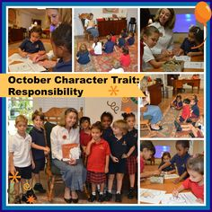 As part of our Cloud 9 Character Education program, different character traits are featured each month.  October promotes responsibility.