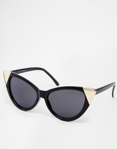 ASOS+Pointy+Cat+Eye+Sunglasses+With+Metal+Corner+Detail