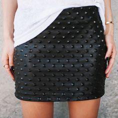 Kell Macro Embossed Stud Leather Mini | Are You Am I