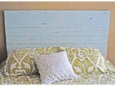 I like Scrap Wood Headboard but would likely use new wood manufactured flooring so that it has knolls and style that I like