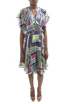 chiffon bumout alice mini frilly dress #grey #africanfashion #NigerianFashion #BuyNigerian   Available at http://lespacebylpm.com/