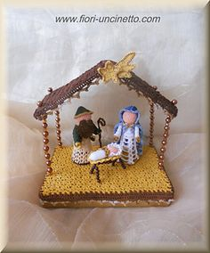Ravelry: White Nativity by CreativityClaudia Crochet Christmas Decorations, Christmas Crochet Patterns, Holiday Crochet, Christmas Ornaments To Make, Christmas Nativity, Felt Christmas, Christmas Angels, Christmas Crafts, Pineapple Angel Pattern