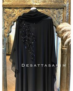 Image may contain: people standing Hijab Style Dress, Modest Fashion Hijab, Niqab Fashion, New Abaya Design, Pakistani Dress Design, Islamic Fashion, Muslim Fashion, Farasha Abaya, Mode Abaya