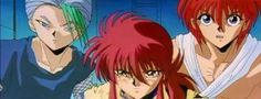 jin from yu yu hakusho | Touya, Kurama, and Jin...love this anime :)