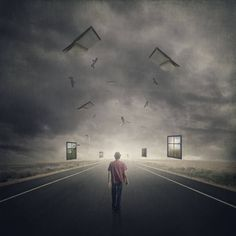 Buy The Dream Walker; Edition 1 of 10, a Digital on Paper by Michael Vincent Manalo from Philippines. It portrays: People, relevant to: road, bird, surreal, books, window, flying words, desert, dream, hat, life, melancholic, nostalgic A collective study of chosen actions and the consequences of choosing such actions and an imagined memory of the life from the unchosen action. A reminder that every action has a consequence, and there are many alternate realities that could have easily been…